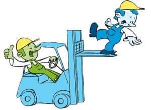 תאונת עבודה עם מלגזה